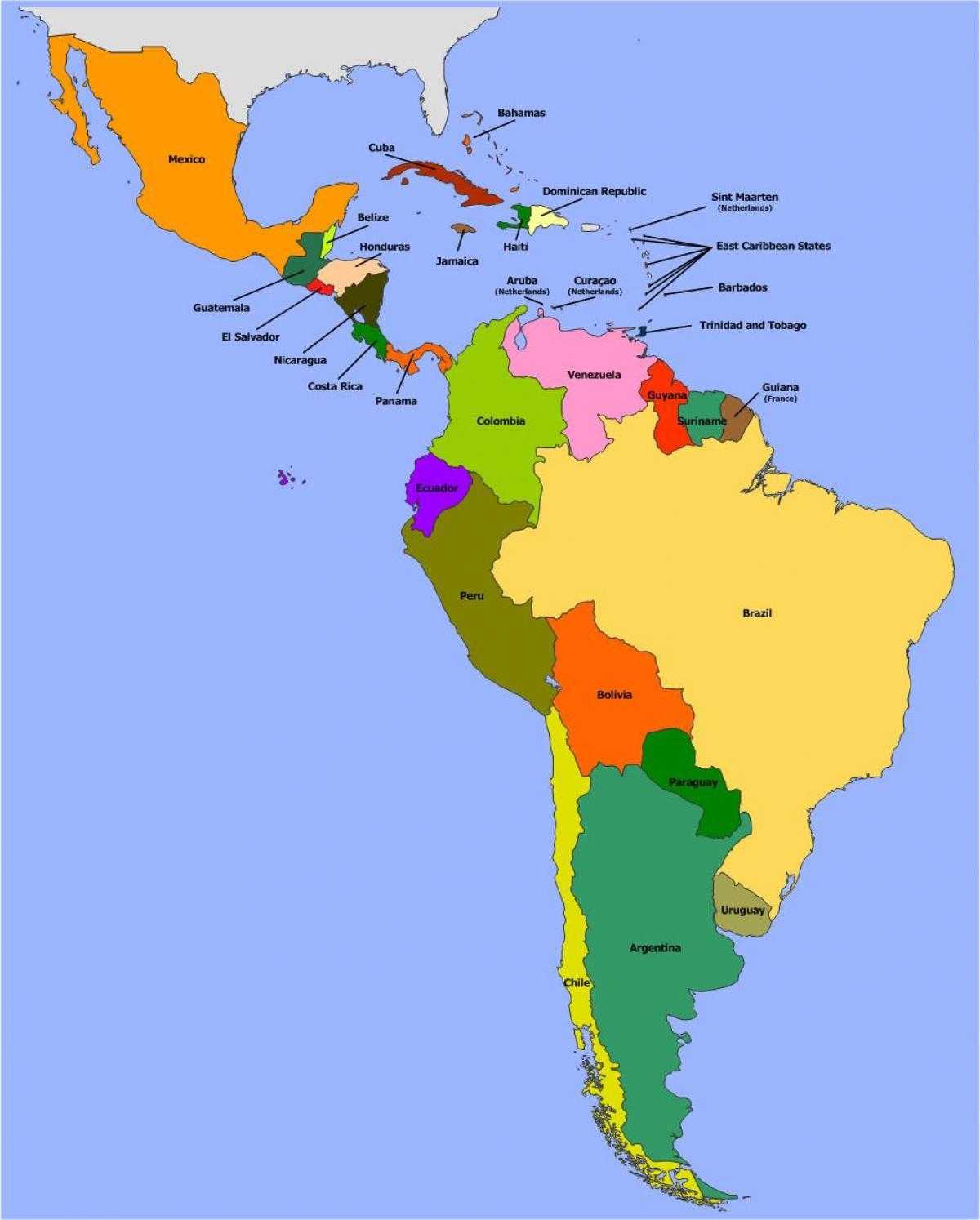 Latinska Amerika Staty